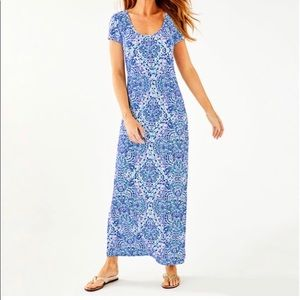 Lilly Pulitzer Wynne Maxi Dress Call Me Shell S